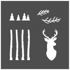 Pochoir Forêt