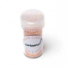 Paillettes en poudre caramel