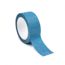 Adhésif pailleté bleu