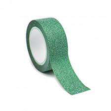 Adhésif pailleté vert