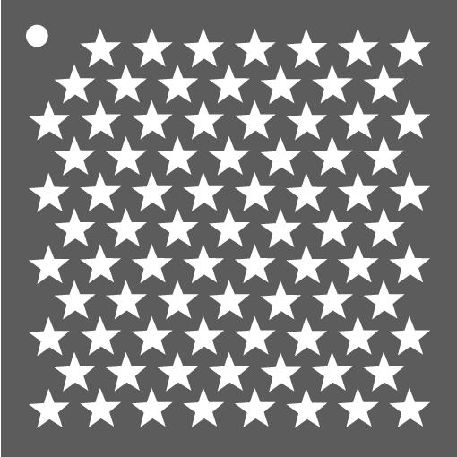 Mini pochoir bonnes étoiles