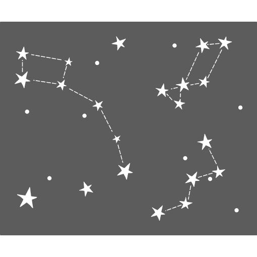 Pochoir constellations