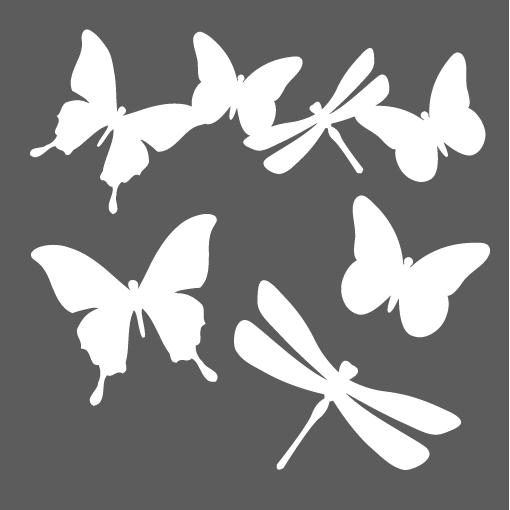 Pochoir nu e de papillons pause cr ative for Papillon fai da te